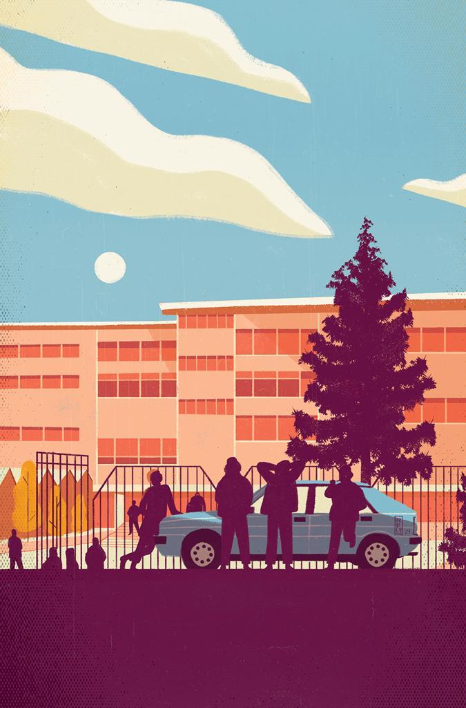 Liceo Orazio illustrazione di Frelly